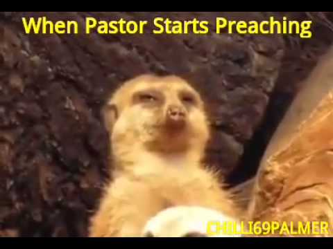 When pastor starts preaching
