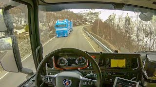 POV Driving Scania S520 - Strynefjellet