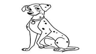 101 Dalmatians Drawing - How to draw Dalmation - Movie Drawing Series