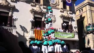 2 de 9 amb folre carregat dels Castellers de Vilafranca