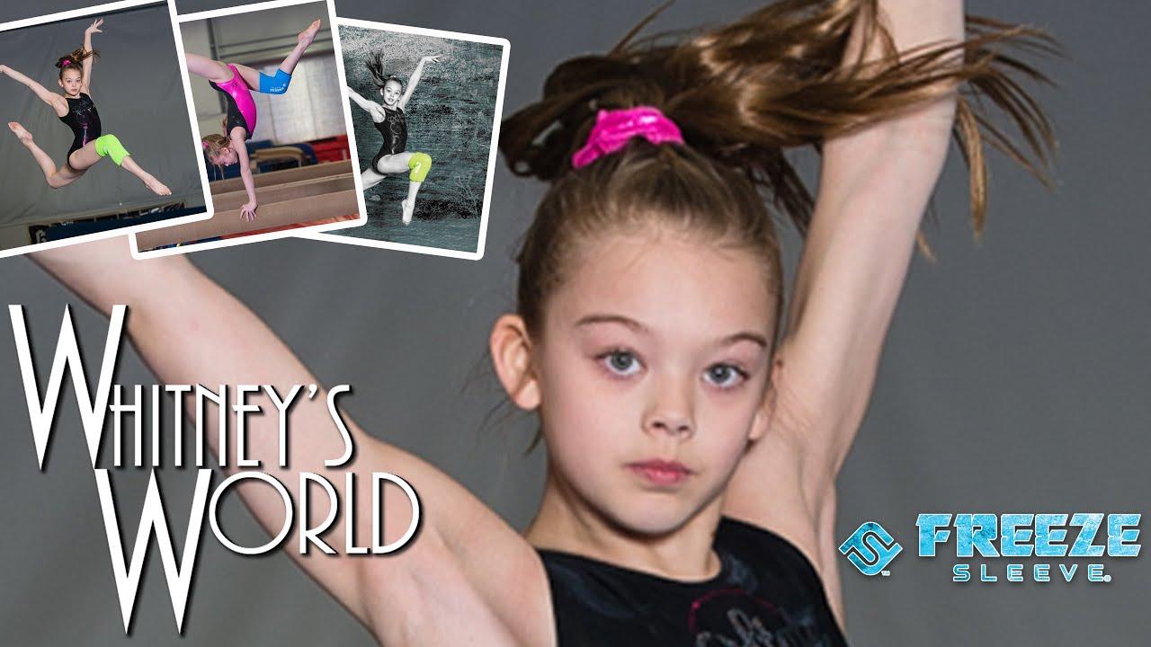 Whitney and Addison Model for Freeze Sleeve Gymnastics Photo Shoot | Whitney Bjerken