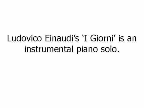 I Giorni Sheet Music - Ludovico Einaudi