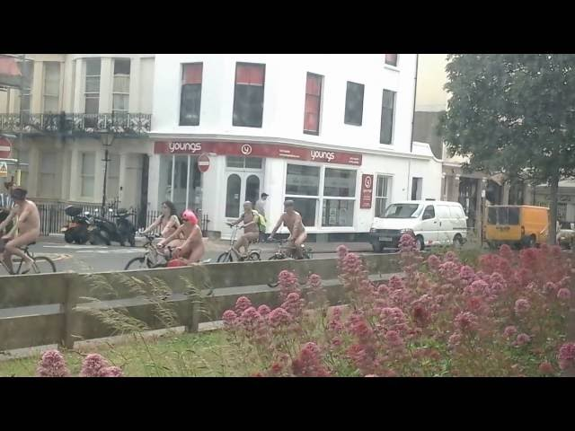Brighton Naked Bike Ride 2015.