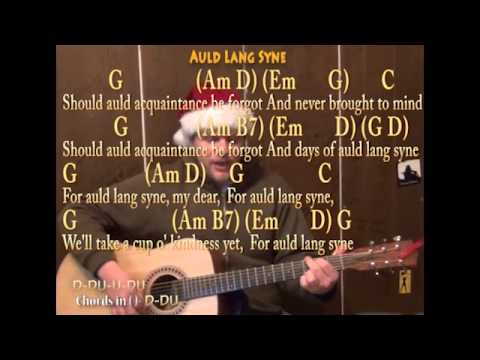 Auld Lang Syne (New Year Cover) Strum Guitar Cover Lesson with ...