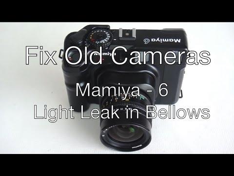 Fix Old Cameras: Mamiya 6  Light Leak in Bellows