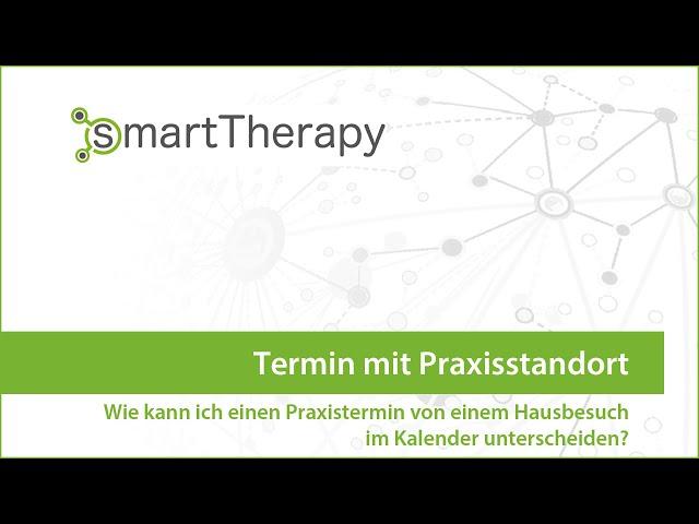 smartTherapy: Termin mit Praxisstandort
