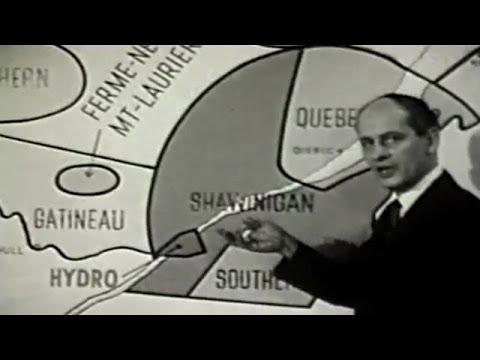 René Lévesque - Nationalisation de l'électricité au Québec (1962)