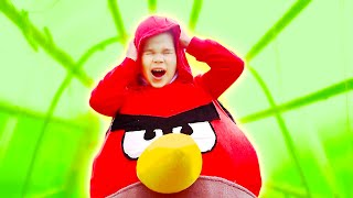 Erik turned into an Angry Birds