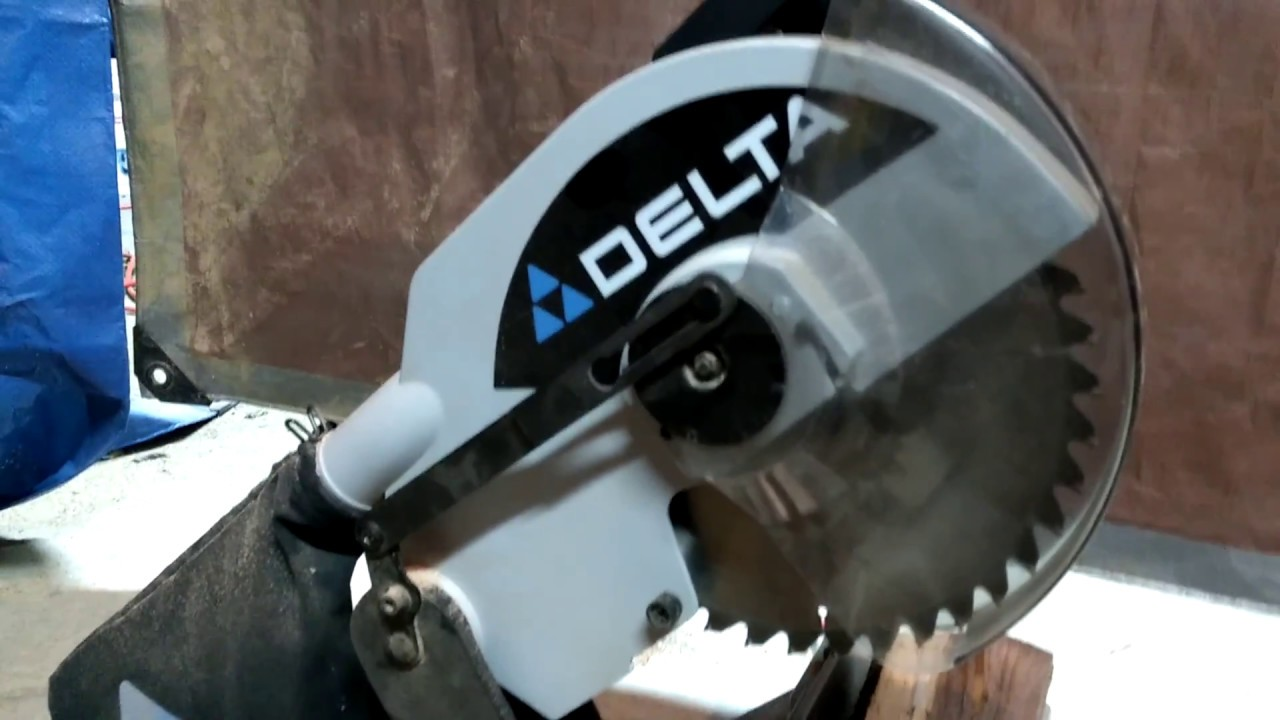 20171118 Part 1 - Delta Miter Saw blade replacement - YouTube