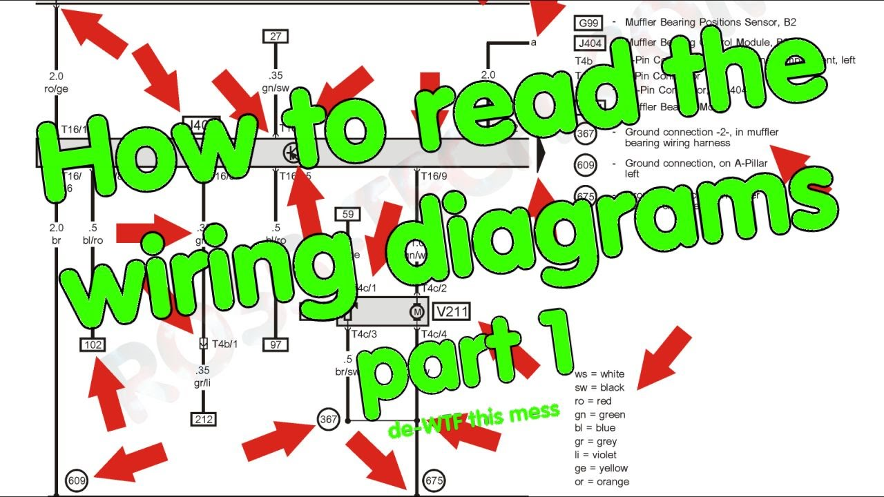 Diagram How To Read Wiring Diagrams Part 1 Of 2