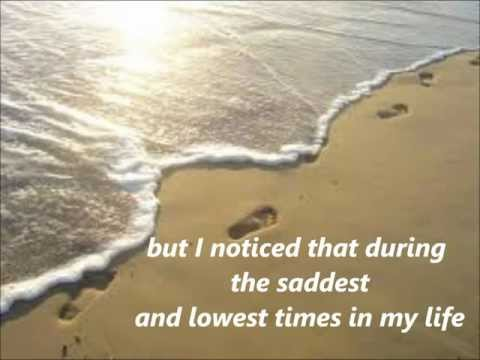 FOOTPRINTS in the sand with lyrics.
