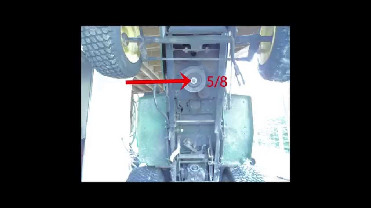 John Deere 265 Belt Change and Follow-up year later PTO stopped ...