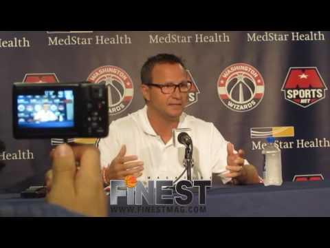Washington Wizards Media Day-Scott Brooks Interview-FinestMag.com