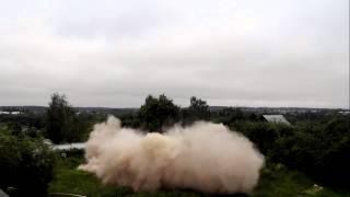 Снос водонапорной башни в Заславле