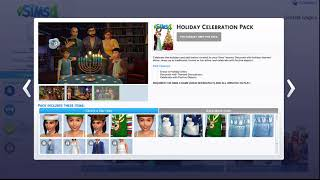 The Sims 4-free holiday celebration DLC pack