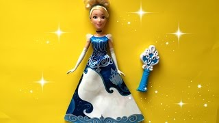 How to Color Cinderella Magical Dress revealing hidden story.Cenicienta