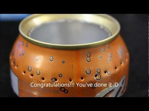 How to make an open jet alcohol stove