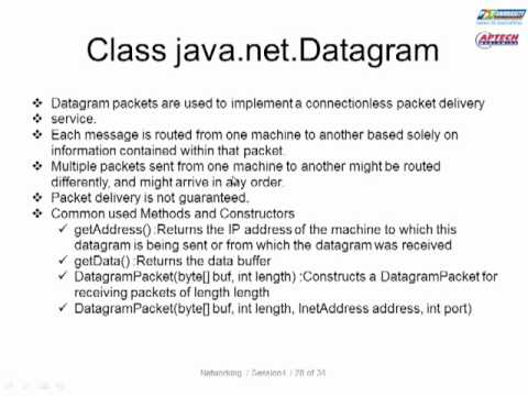 Bài giảng java UDP ( User DataGram Protocol ) - 2/10