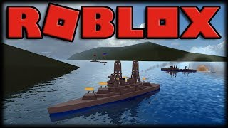Playing Roblox-Warships-insane ship battles, submarines and aircraft carriers!