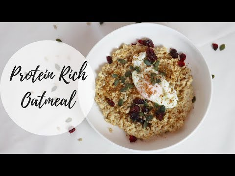 Savoury Oatmeal with a Poached Egg   Protein Rich Porridge
