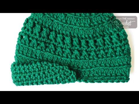 How To Crochet A Hat Visor Peak Cap Youtube