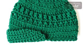 How To Crochet a Hat: Visor Peak Cap
