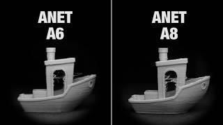 anet A6 vs Anet A8 Test Print - Benchmark (4k)
