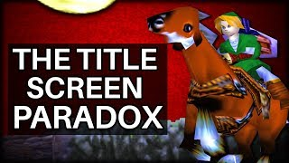 The Title Screen Paradox in Ocarina of Time (Zelda)