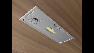 Luminaria Ercole Twist con interruptor