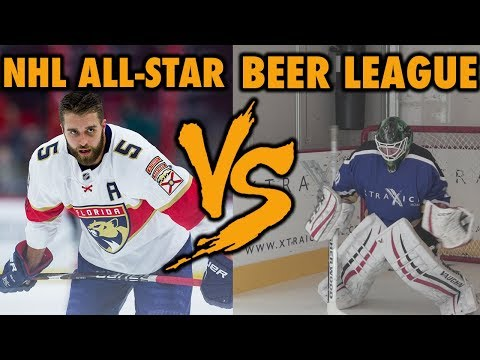 NHL Player VS Beer League Goalie - Best of 5 shootout