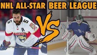NHL Player VS Beer League Goalie - Best of 5 shootout