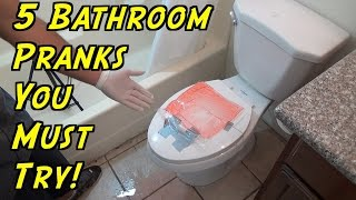 5 Bathroom Pranks You Can Do At Home - HOW TO PRANK (Evil Booby Traps) | Nextraker