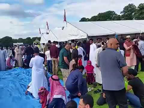 Eid Prayers in Victoria Park -Leicester, England June 2017