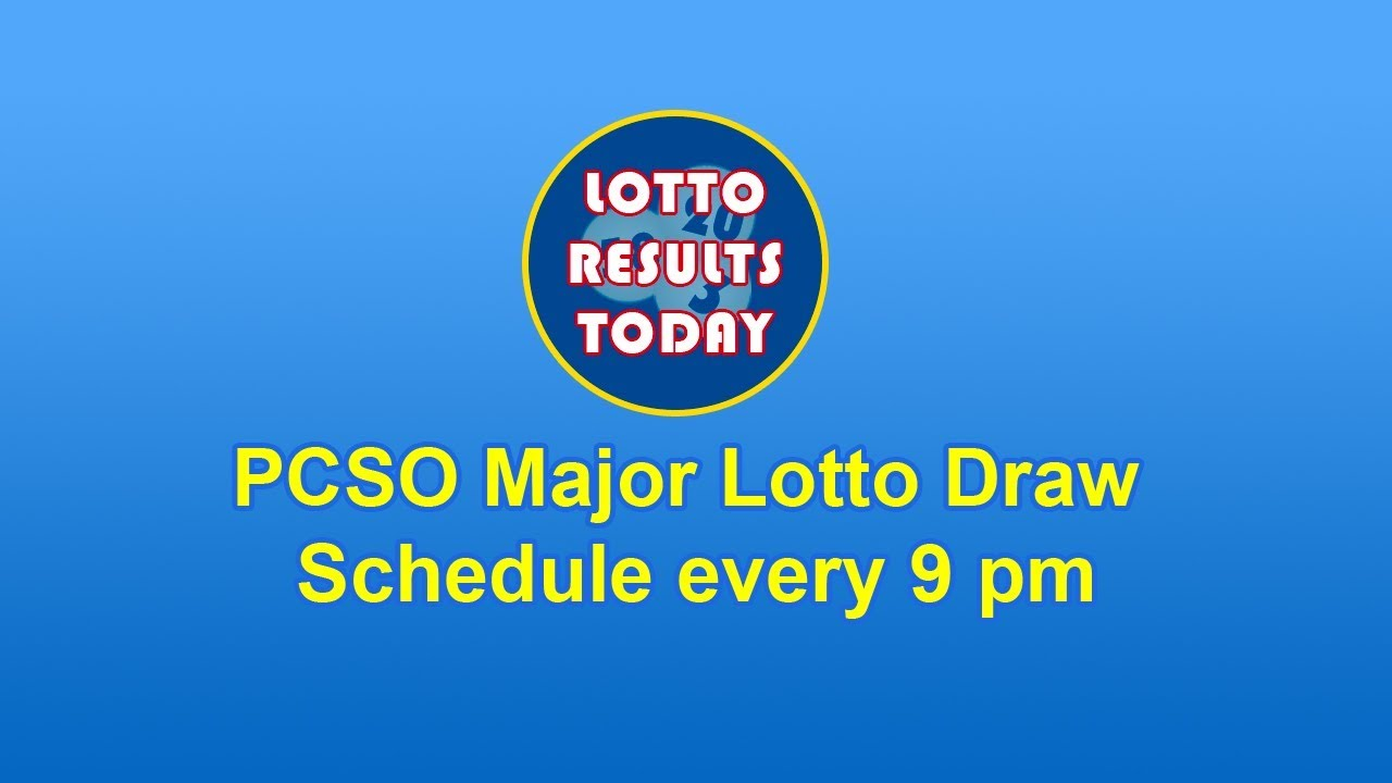 Pcso Major Lotto Draw Schedule Every 9 Pm