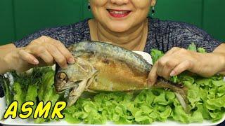 ASMR • Somtum & Fried Short Klong Mackerel • Eating Sounds • Light Whispers • Nana Eats