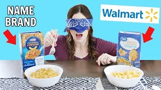 NAME BRAND vs WALMART (Blind Taste Test)