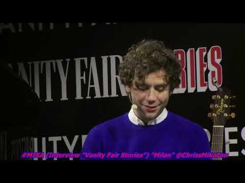 """#MIKA (Interview pour """"Vanity Fair Stories"""") """" Palazzo del cinéma Milano"""" Le 24/11/2018"""