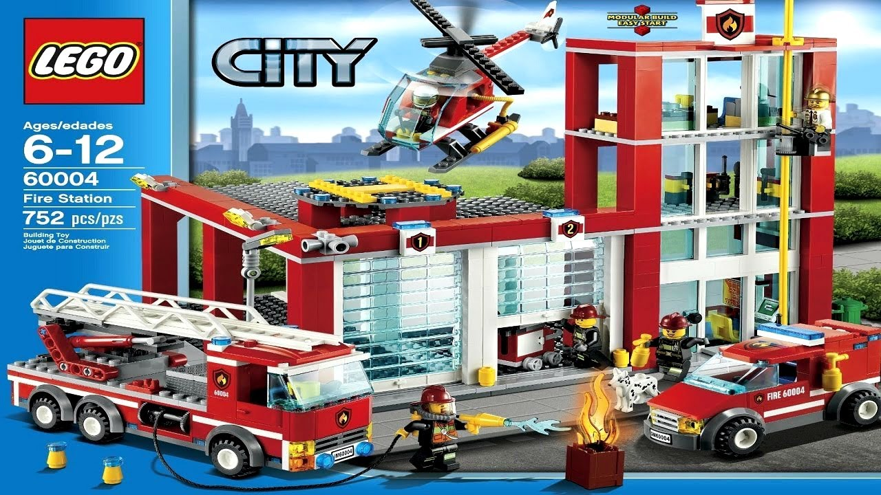 Fire Station Remiza Strażacka 60004 Lego City