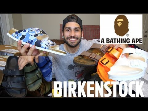 BIRKENSTOCK COLLECTION/UNBOXING/REVIEW!!! BAPE, EVA, CORK ARIZONA STYLE MEN