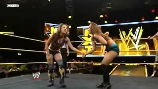 NXT Paige & Sasha Banks VS Summer Rae & Audrey Marie