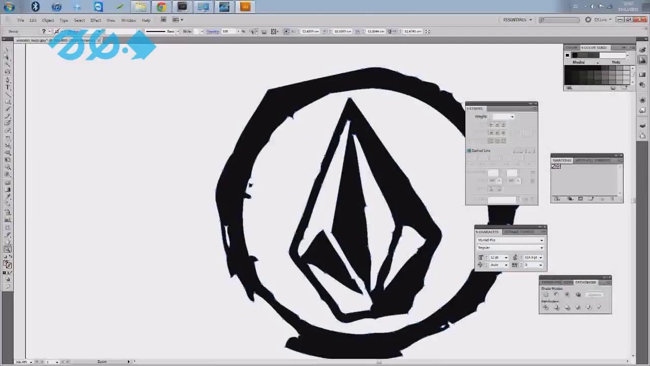Como vectorizar un logo con photoshop #1