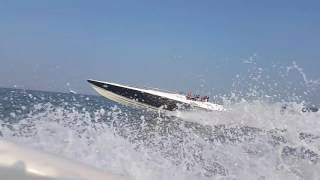 Unbelievable Sunseeker Powerboat takes off 80+mph