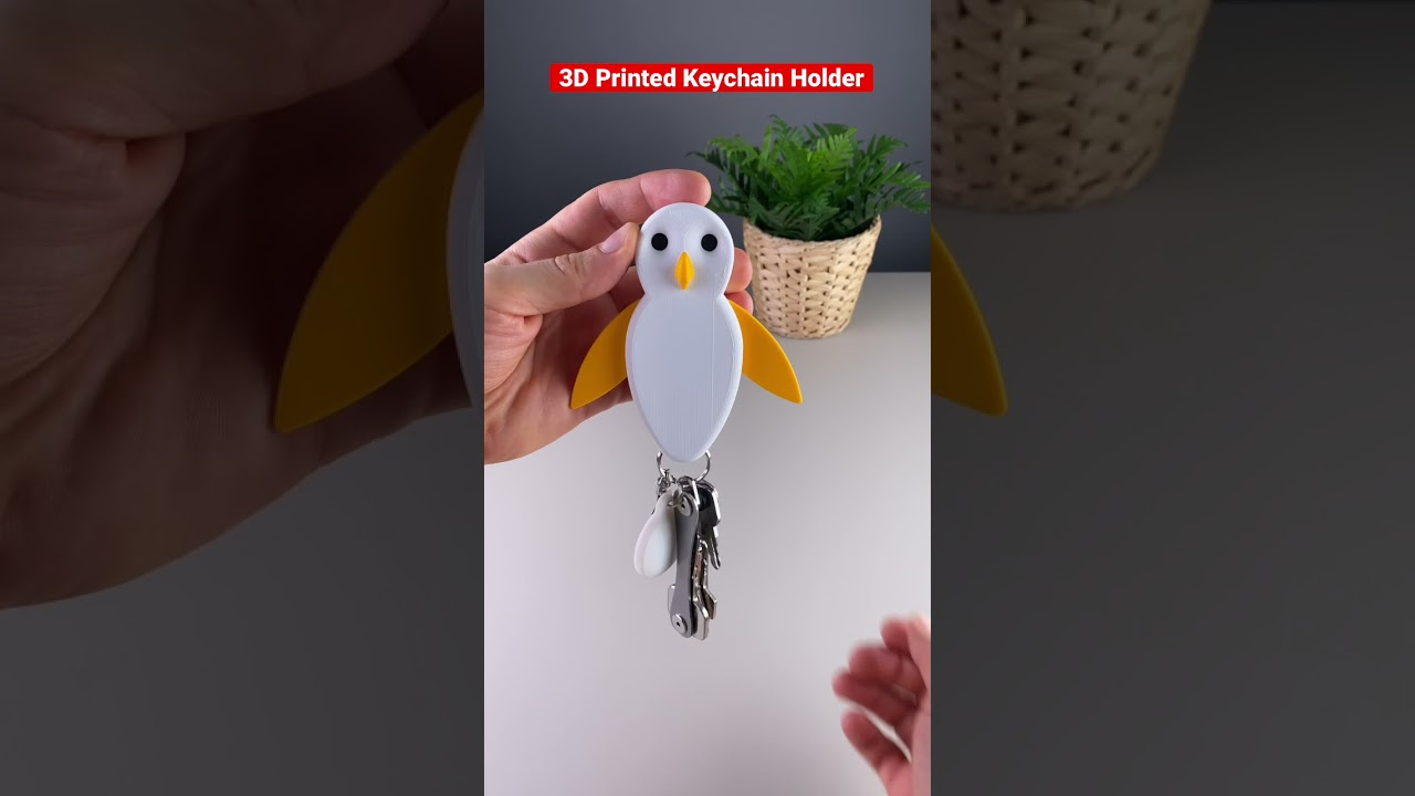 3D Printed Penguin Keychain Holder with Magnets 🧲