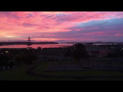 Sunrise over the waitemata harbour
