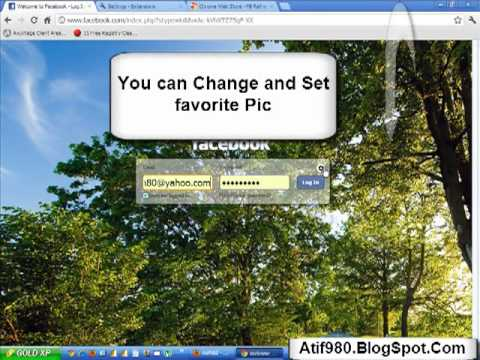 How Change Facebook Login Page Background in Google Chrome