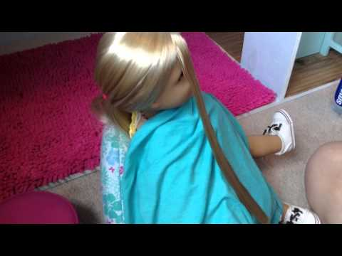 How To: Straightening Your American Girl Dolls Hair!