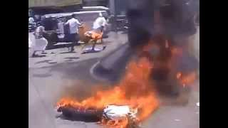 Funny Fire Accident in Kerala during a Protest - India