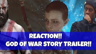 "God of War REACTION- Story Trailer 2018! ""PLOT IS REVEALED!"""