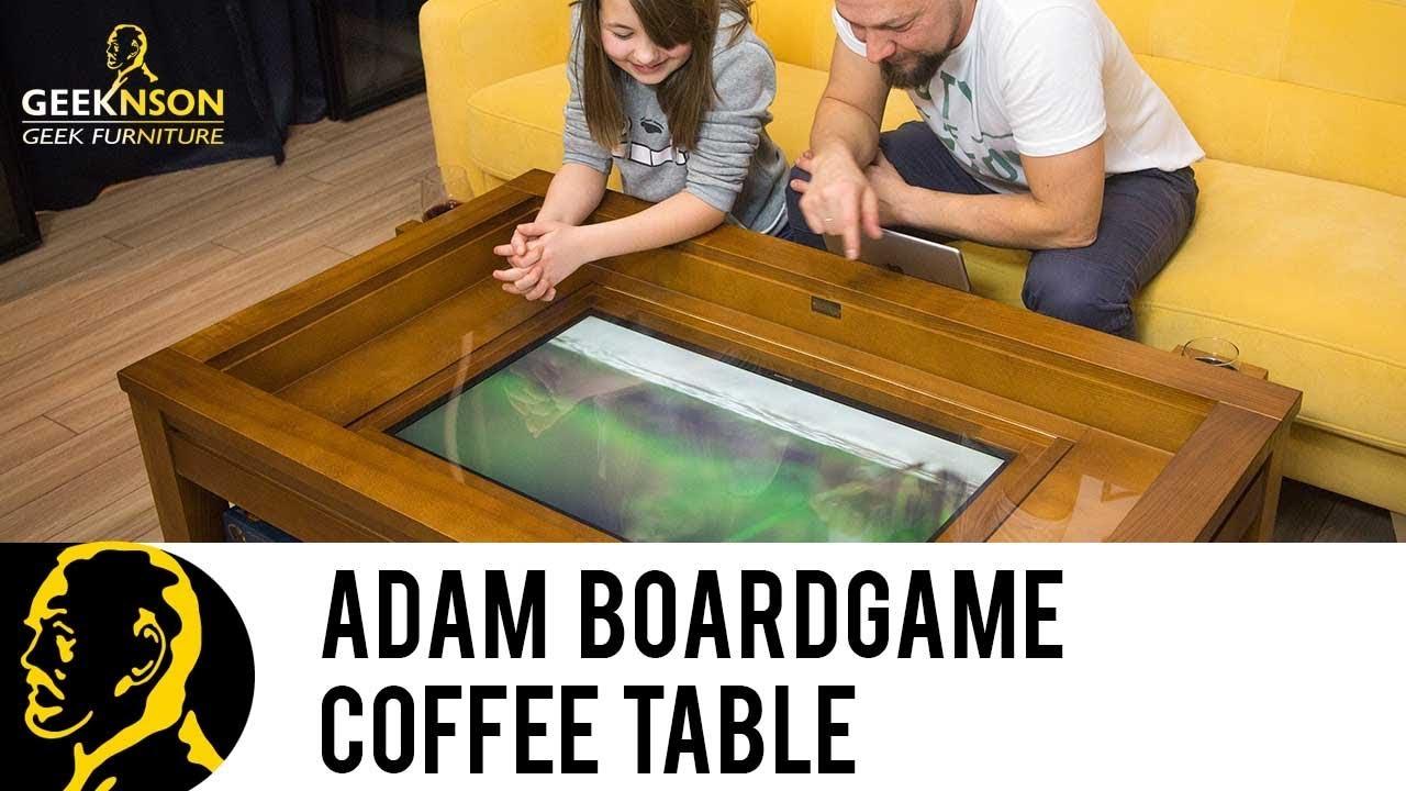 geeknson adam coffee boardgame table