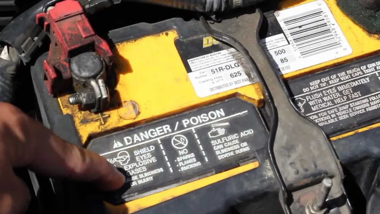 How To Add Water To A Car Battery Youtube